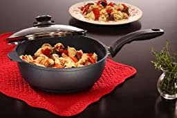 Swiss Diamond Nonstick Saute Pan with Lid - 3.2 qt (9.5\