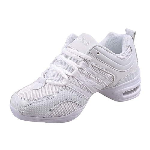 72d632f1642 uirend Zapatos Aire Libre Deportes Danza Mujer - Lona Cordones Suela de  Goma Zapatillas Negro Informal