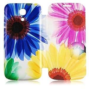 FJM Sunflower Pattern Full Body Case for Samsung Galaxy S4 Mini I9190