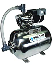 BurCam 506538SS SW Stainless Steel Jet Pump and Tank, Ml60H 3/4 Hp, 115V/230V