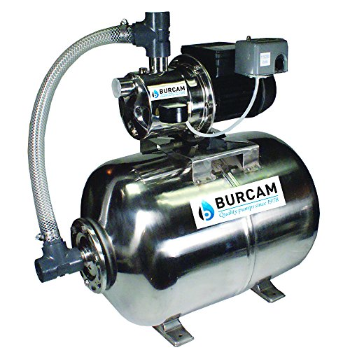 Hp Shall Well Pump (BurCam 506538SS  SW Stainless Steel Jet Pump & Tank, Ml60H 3/4 hp, 115V/230V)
