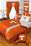 Tennessee Volunteers COMBO 3 Pc TWIN Comforter Set, Shower Curtain & 4 Pc Towel Set - Entire Set Includes: (1 Comforter, 1 Sham, 1 Bedskirt,1 Shower Curtain, 2 Bath Towels, 2 Hand Towels)- Decorate your Bedroom and Bathroom & SAVE BIG ON BUNDLING!