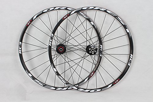 Disc 26 Inch Mtb Rim - RC3 Rim MTB Mountain Bike Wheel Ultra Light Front 2 Rear 5 Sealed Bearings Hub Disc Wheelset Wheels (black)