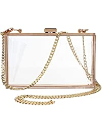 Acrylic Evening Handbag Designer Cross-Body Purse Bag Women Cute Transparent Clear See Through Box Clutch