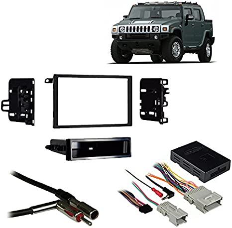 Amazon.com: Compatible with Hummer H2 2003-2007 Double DIN ... on ford excursion stereo wiring, toyota 4runner stereo wiring, jeep patriot stereo wiring, ford explorer stereo wiring, nissan rogue stereo wiring, chevy silverado stereo wiring, chevy tahoe stereo wiring,
