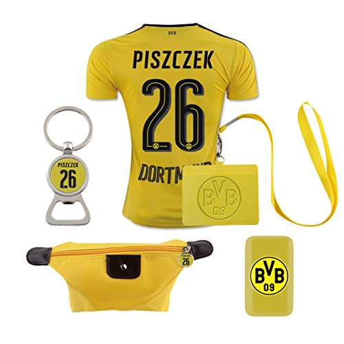 - #26 Piszczek (6 in 1 Combo) Dortmund Home Match Adult Soccer Jersey 2016-17