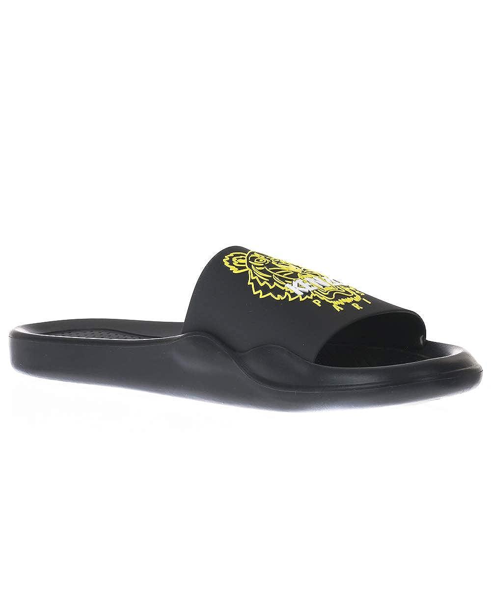 a03779ae4 Amazon.com | Kenzo Tiger Head Rubber Pool Slide Sandals Black | Slippers