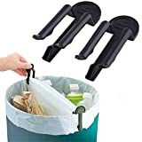 Practical Trash Can Clamp Plastic Garbage Bag Clip, 10 Packs Fixed Waste Bin Bag Holder Rubbish Clip