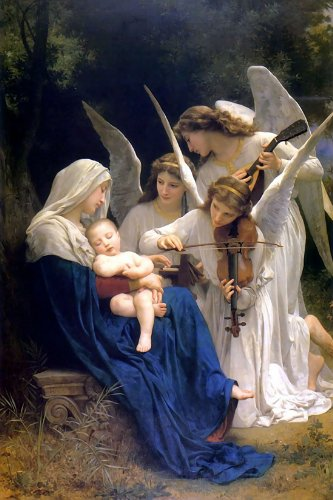 Song Of The Angels - CANVAS OR WALL ART - Religious Prints