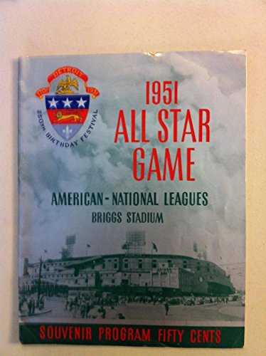 1951-All-Star-Program-Briggs-Stadium-from-the-Red-Schoendienst-collection-Good-to-Very-Good