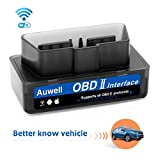 OBDII Car Code Reader, Auwell WiFi OBD2 Scanner [2018 Upgraded] for Car Universal Check Engine Diagnostic Tool OBD2 Code Scanner Adapter for iOS & Android Support All OBDII Protocols (Black)