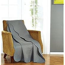 Plaid Ultra Sonic Throw 50 x 70 inches,Dark Grey
