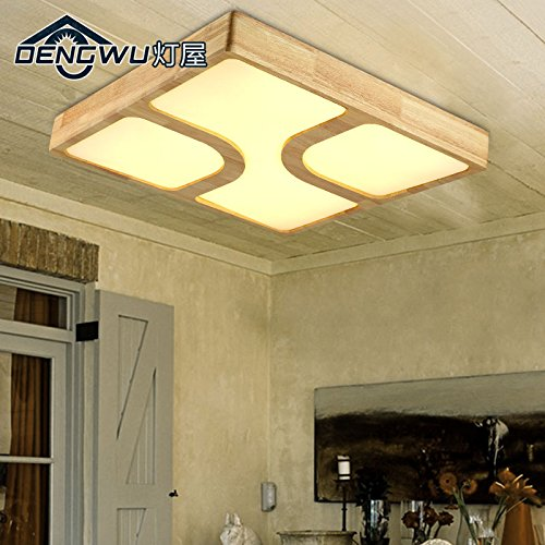 BLYC- Fernbedienung dimmer kreative Nordic Schlafzimmer Decke Lichter moderne minimalistische Studie des amerikanischen Charakter quadratische Decke Lampe Balkon Korridors 550 * 550 * 80 mm