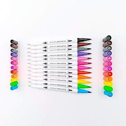 Amazon Com Watercolor Markers Dual Tip Watercolor Brush Pens