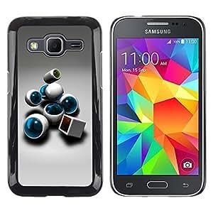 Abstract - Metal de aluminio y de plástico duro Caja del teléfono - Negro - Samsung Galaxy Core Prime / SM-G360