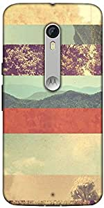 Snoogg Travel Story Designer Protective Back Case Cover For Motorola Moto X S...