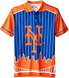 FOCO New York Mets Polyester Short Sleeve Thematic Polo Shirt Medium