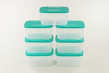 Kühlschrank Organizer Stapelbar : Tupperware kühlschrank system 700 ml türkis 7 frische system dose