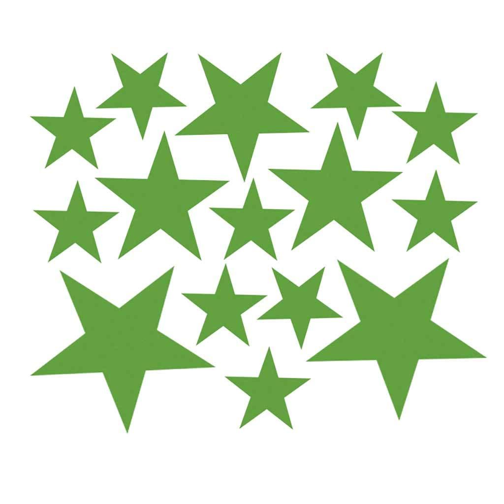 110Pcs Multi-sized Star Wall Stickers Art Bedroom Vinyl Decor Home Decals
