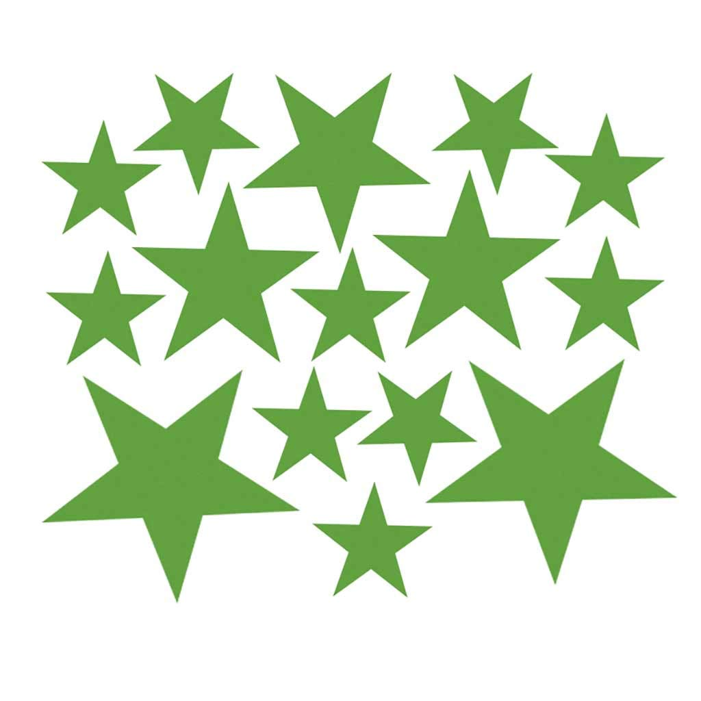 Cyhulu Creative Removable Window Wall Decal, New Fashion 110Pcs Star Mural Stickers Vinyl for Home Bedroom Living Room DIY Art Decoration, 4 Color Available (Green, One size)