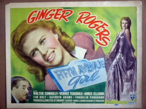 HD10 Fifth Ave Girl GINGER ROGERS 1939 Title Lobby - Gingers Title
