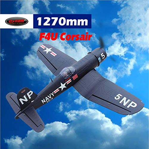 DYNAM RC Airplane F4U Corsair 1270mm Wingspan - PNP (Rc F4u Corsair)