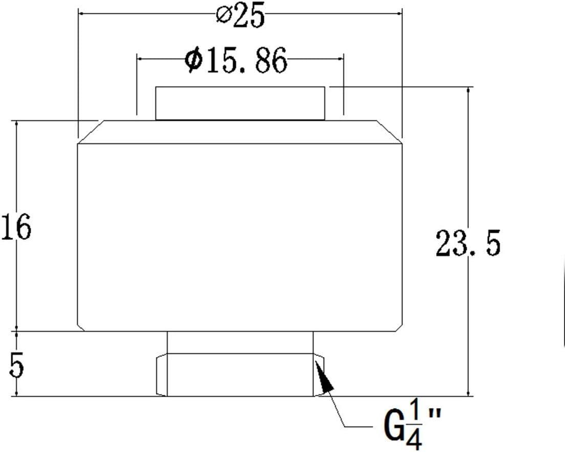 4 Pack Bykski Flex 13mm ID x 19mm OD Fitting Brite Nickel