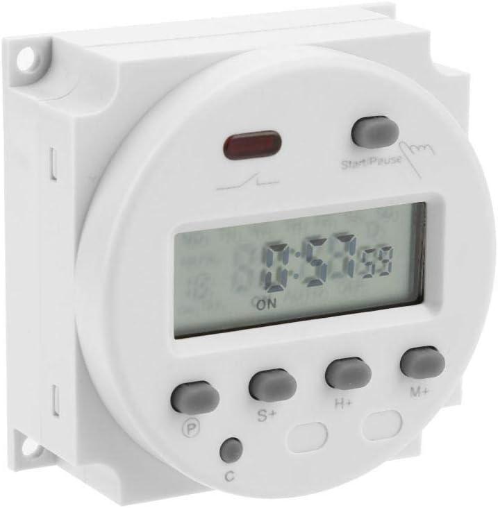 110V 24V Minuterie num/érique Commutateur de contr/ôle du temps Compte /à rebours LCD num/érique minuterie /électronique CN 102A 12V 220V 220V