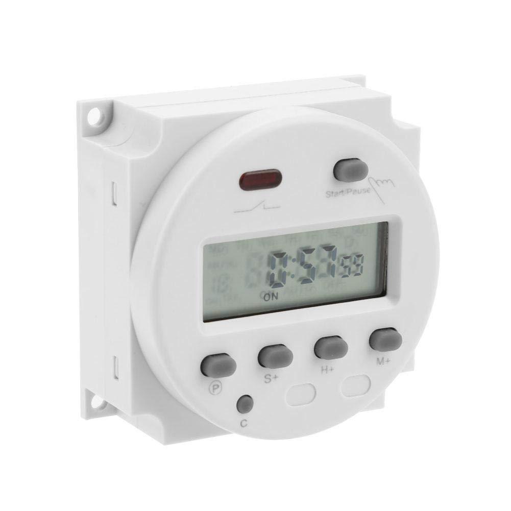 24V 220V Rel/é temporizador de ciclo CN102A Temporizador electr/ónico digital LCD Interruptor de control de tiempo de cuenta regresiva del ciclo 12V 220V Adecuado para estufa industrial 110V