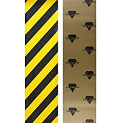 Includes 1 sheet of professional quality Black Diamond Griptape. Black Diamond Griptape features superior grip, thick mil paper, & super sticky adhesive backing.