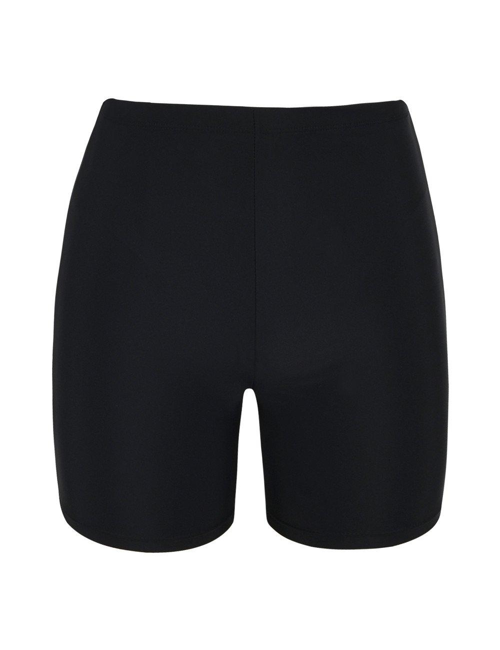 Firpearl Women's Board Shorts UPF50+ Sport Surf Shorts Swimsuit Bottom Swim Shorts Black US24