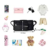 BEST STROLLER ORGANIZER for Smart Moms, Premium Deep Cup Holders, Extra-Large Storage Space for iPhones, Wallets, Diapers, Books, Toys, iPads