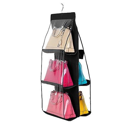 LUOEM Borsa organizzatore armadio Storage Bag sistema di sospensione per  borsetta (nero)  Amazon.it  Casa e cucina 712a7688b3c