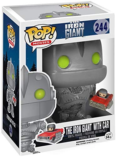 Vinyl Figure Iron Giant with Car Pop Includes Compatible Pop Box Protector Case Funko Sci-Fi