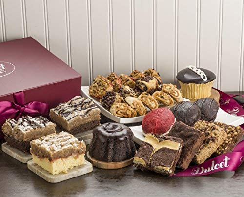 Dulcet Party Gift Box - Includes an Assortment of Individually Wrapped Pastries in a Variety of Flavors. Elegant Gift Box. Uniquely Tasty Gift Idea