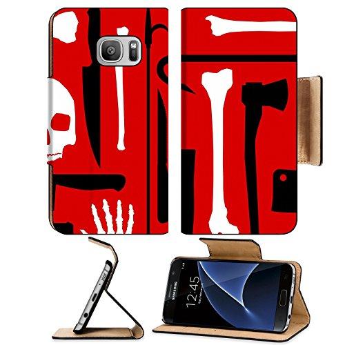 MSD Premium Samsung Galaxy S7 Flip Pu Leather Wallet Case IMAGE ID: 5193770 Murder seamless (Crowbar Prop)