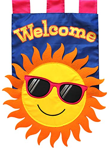 Briarwood Lane Summer Sun Applique Garden Flag Welcome Sunshine 12.5