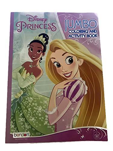 Bendon Disney Princess Jumbo Coloring and Activity Book with Princess Tiana and Ariel -