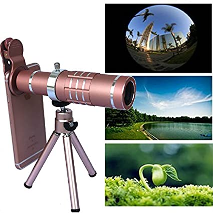 Hangang Telescope Lens, Phone Camera Lens Kit Cell Phone Zoom Lens 12X Camera Telephoto Focus Lens Kit for iPhone 7 6S 6 Plus 5 4 Samsung Android and Other Phones(CS12076-12X) Changsha Hangang Technology Ltd