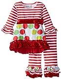 Flap Happy Baby Girls' Mini Miranda Set With Dress & Ruffle Pant, Tinsel Time, 18 Months