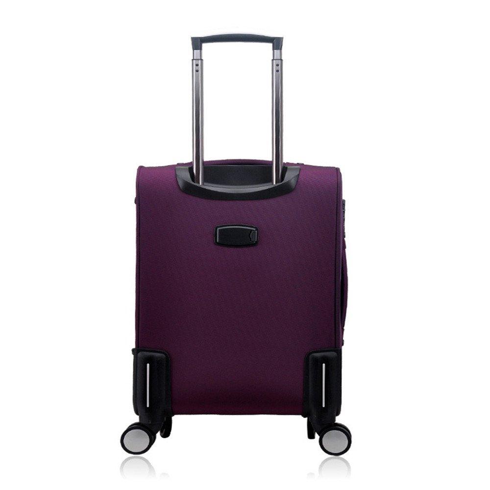 TLMYDD トロリーケースオックスフォード布ソフトトラベルスーツケース学生スーツケース、紫 トロリーケース B07T5XQ3Q5