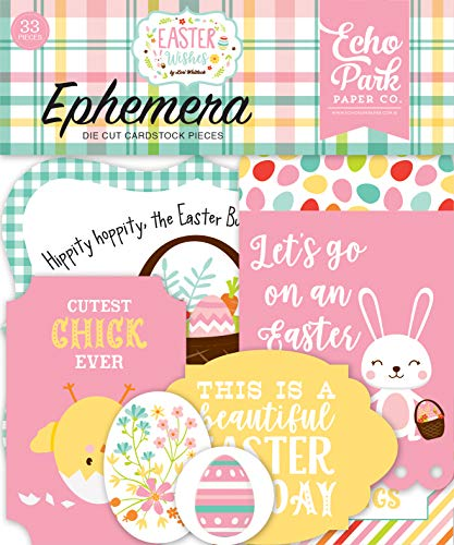 Echo Park Paper Company Easter Wishes Ephemera, Pink, Yellow, Teal, Green, Brown, Orange]()
