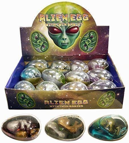 12 x Alien Egg Twin Babies Slime Figures Childrens Toys Henbrandt N14 154