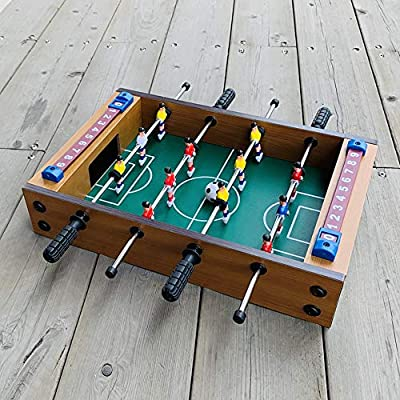 Mesa de futbolín Adultos y niños Mini mano portable recreativo de fútbol Foosball Tabla Competencia Juegos de mesa de futbolín de mesa / juego de fútbol fútbol de la recreativa para salas