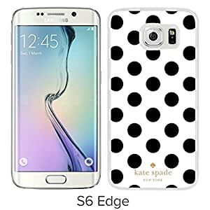 Unique And Beautiful Designed Kate Spade Cover Case For Samsung Galaxy S6 Edge White Phone Case 293