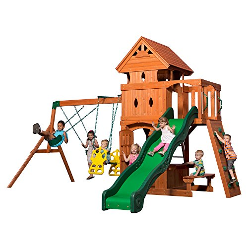 Backyard Discovery Monterey All Cedar Wood Playset Swing Set ()