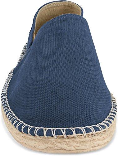 Schuhe Herren normani 46 Flache Espadrillas Style für 2 Freizeitschuhe Stoffschuhe 36 Gr und Sommer Klassische Damen Navy vvx5wOrqC