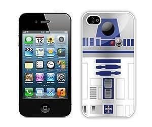Custom Best Design tar Wars R2D2 Robot 1 White iPhone 4 4S Case