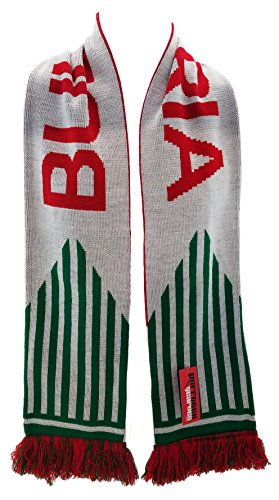 National Soccer Team Bulgaria Scarf, White, One Size