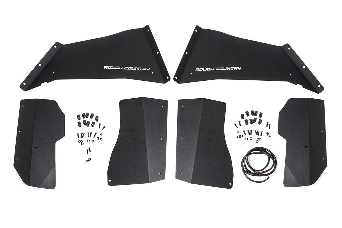 07-18 Wrangler Unlimited JK 4WD//2WD Rough Country 1195 Rough Country-1195-Front Steel Inner Fender Liners for Jeep 4WD